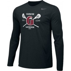 Glencoe Lacrosse 13: Adult-Size - Nike Team Legend Long-Sleeve Crew T-Shirt - Black