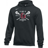 Glencoe Lacrosse 16: Adult-Size - Nike Team Club Men's Fleece Training Hoodie - Black
