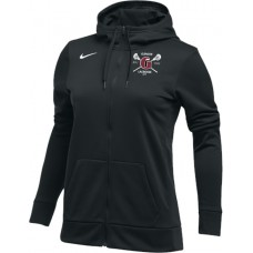 Glencoe Lacrosse 18: Nike Women's Therma All-Time Hoodie Full Zip - Black